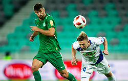 Lovro Cvek of Celje during football match between NK Olimpija Ljubljana and NK Celje in 3rd Round of Prva liga Telekom Slovenije 2018/19, on Avgust 05, 2018 in SRC Stozice, Ljubljana, Slovenia. Photo by Vid Ponikvar / Sportida