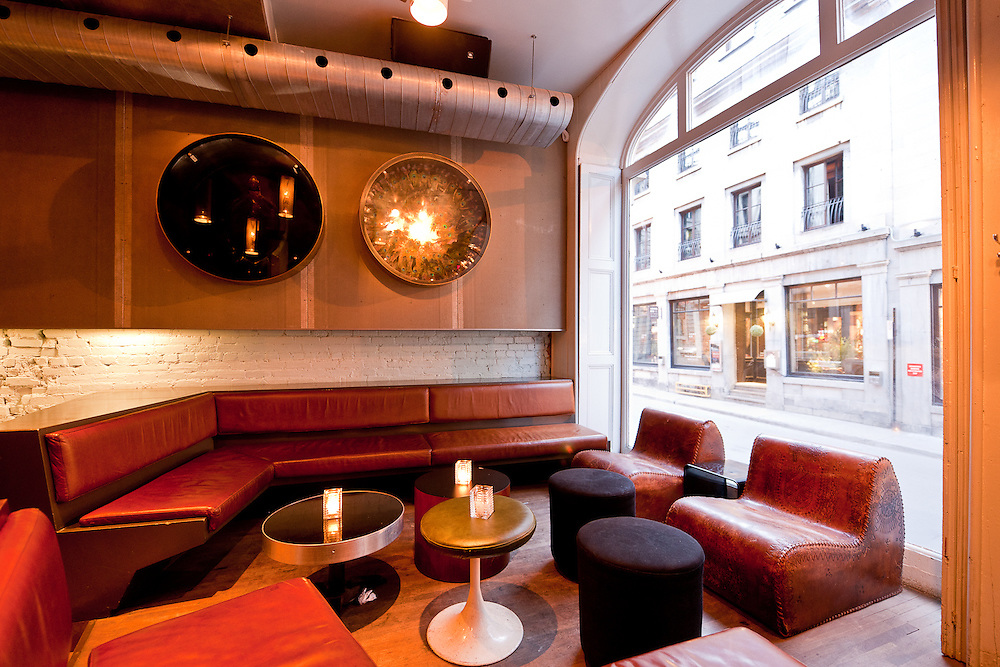 Interior photographs of Philemon Bar in Montreal, Quebec