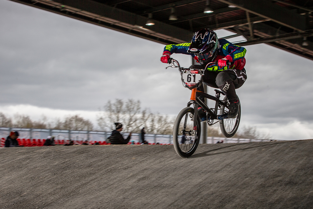 #61 (VEENSTRA Manon) NED at the 2018 UCI BMX Superscross World Cup in Saint-Quentin-En-Yvelines, France.