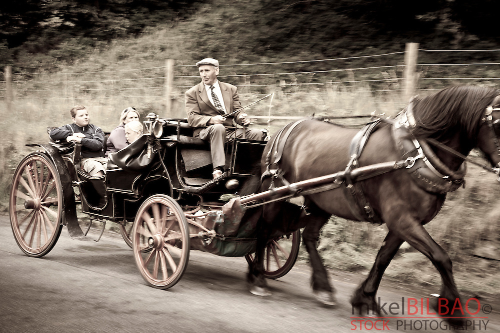 Tourist carriage. Wicklow Mountains National Park. County Wicklow. Ireland