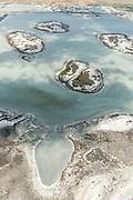 Aerial view of Jaffna Peninsula.