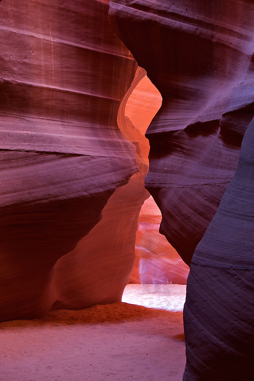 Antelope Canyon is the most-visited and most-photographed slot canyon in the American Southwest. Located on Navajo land near Page, Arizona, it includes two separate, photogenic slot canyon sections, referred to individually as Upper Antelope Canyon  and Lower Antelope Canyon.