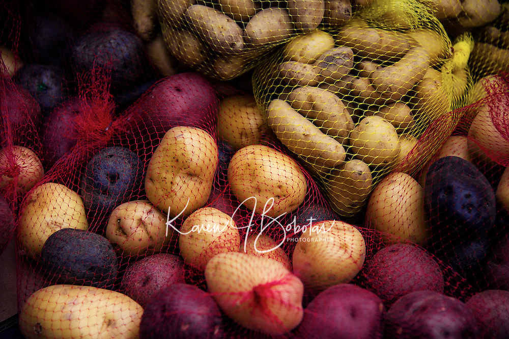 Farmer's Market - Quincy Market.  Boston Walking Tour.  ©2016 Karen Bobotas Photographer