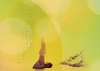 Spiritual Sarvangasana. Photo-illustration
