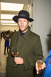 Artist HENRY HUDSON at the opening of the exhibition Champagne Life in celebration of 30 years of The Saatchi Gallery, held on 12th January 2016 at The Saatchi Gallery, Duke Of York's HQ, King's Rd, London.