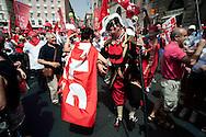Roma 12 Giugno 2010.Manifestazione dei lavoratori e pensionati del sindacato CGIL per protestare contro la manovra economica del Governo..Rome June 12, 2010.Demonstration of workers and pensioners of the CGIL union, to protest the government's economic measure.