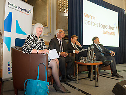 Better Together London.<br /> (LtoR) Mary Macleod, non-executive director of Great Ormond Street Hospital, Alistair Darling, MP, Edinburgh South West and Chairman of the Board, Better Together, Danny Alexander, MP for Inverness and Chief Secretary to the Treasury and Lord Strathclyde, former, Leader of the House of Lords<br /> <br /> The launch event of Better Together London,  the cross party campaign for a strong Scotland in the United Kingdom.<br /> London, United Kingdom<br /> Wednesday, 5th June 2013<br /> Picture by Anthony Upton / i-Images