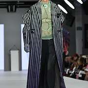 Designer Martha Kazmierczak at the Best of Graduate Fashion Week showcases at the Graduate Fashion Week 2018, June 6 2018 at Truman Brewery, London, UK.