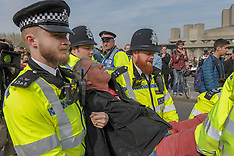 Extinction Rebellion protest on Waterloo Bridge, London, 18 April 2019