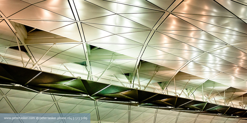 Roof section inside Hong Kong International Airport.