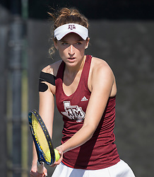 SFA vs. Texas A&M in a NCAA women's tennis match Jan. 21st, 2017, in College Station, Texas.