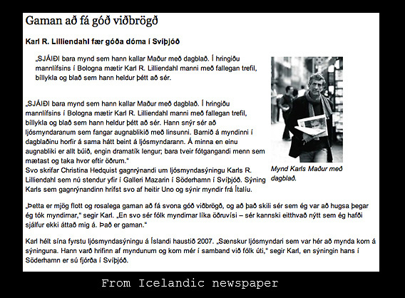Icelandic newspaper article from Iceland.