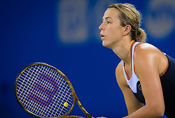 September 26, 2018 - Anastasia Pavlyuchenkova of Russia in action during her third-round match at the 2018 Dongfeng Motor Wuhan Open WTA Premier 5 tennis tournament (Credit Image: © AFP7 via ZUMA Wire)