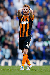 Stephen Quinn looks dejected after Hull City lose 2-0 to Tottenham Hotspur - Photo mandatory by-line: Rogan Thomson/JMP - 07966 386802 - 16/05/2015 - SPORT - FOOTBALL - London, England - White Hart Lane - Tottenham Hotspur v Hull City - Barclays Premier League.