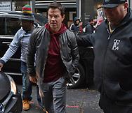 BOSTON, MA - NOVEMBER 16: Mark Wahlberg  walks onto the set of Wonderland on Kingston Street November 16, 2018 in BOSTON, Massachusetts. (Staff Photo By Chris Christo/Boston Herald)