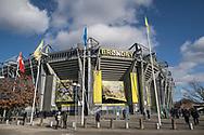 FODBOLD: Brøndby Stadion klar til kampen i ALKA Superligaen mellem Brøndby IF og FC Helsingør den 25. februar 2018 på Brøndby Stadion. Foto: Claus Birch.