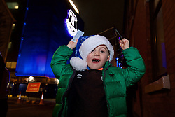 LIVERPOOL, ENGLAND - Monday, December 19, 2016: A young Everton supporter outside Goodison Park ahead of the FA Premier League match between Everton and Liverpool, the 227th Merseyside Derby, at Goodison Park. (Pic by Gavin Trafford/Propaganda)