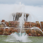 Buckingham Fountain during the Taste of Chicago.