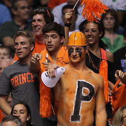 Mar 17, 2011; Tampa, FL, USA; Princeton Tigers fans during first half of the second round of the 2011 NCAA men's basketball tournament against the Kentucky Wildcats at the St. Pete Times Forum.  Mandatory Credit: Derick E. Hingle