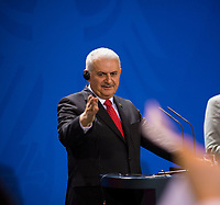 DEU, Deutschland, Germany, Berlin, 15.02.2018: Der türkische Ministerpräsident Binali Yildirim bei einer Pressekonferenz im Bundeskanzleramt.