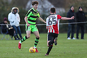 Forest Green Rovers Jordan Stevens(35) runs forward during the The Central League match between Cheltenham Town Reserves and Forest Green Rovers Reserves at The Energy Check Training Ground, Cheltenham, United Kingdom on 28 November 2017. Photo by Shane Healey.