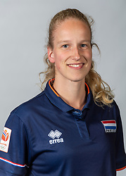 10-05-2018 NED: Team shoot Dutch volleyball team women, Arnhem<br /> Rianne Verhoek, Videoscout