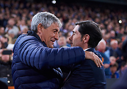 February 28, 2019 - Valencia, U.S. - VALENCIA, SPAIN - FEBRUARY 28: Quique Setien, head coach of Real Betis Balompie and Marcelino Garcia Toral, head coach of Valencia CF looks during the Copa del Rey match between Valencia CF and Real Betis Balompie at Mestalla stadium on February 28, 2019 in Valencia, Spain. (Photo by Carlos Sanchez Martinez/Icon Sportswire) (Credit Image: © Carlos Sanchez Martinez/Icon SMI via ZUMA Press)