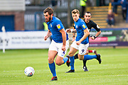Macclesfield Town midfielder Jak McCourtduring  in action the EFL Sky Bet League 2 match between Macclesfield Town and Morecambe at Moss Rose, Macclesfield, United Kingdom on 20 August 2019.