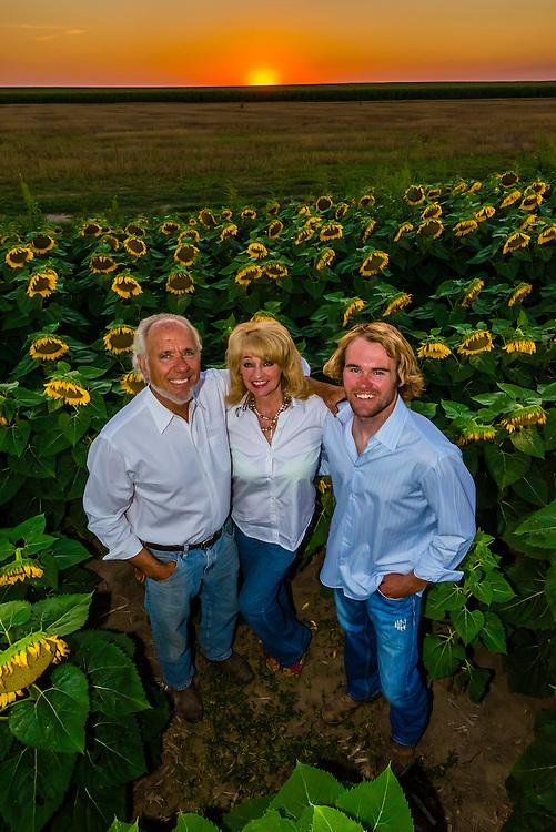 Farm family, Schields & Sons, Voltaire, near Goodland, western Kansas USA.