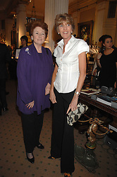 Left to right, LADY ELIZABETH ANSON and LADY JANE SPENCER-CHURCHILL at a reception to celebrate the launch of Prince Dimitri of Yugoslavia's one-of-a-kind jeweleery collection held at Partridge Fine Art, 144-146 New Bond Street, London on 11th June 2008.<br />