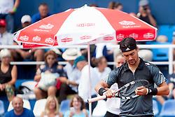 Fabio Fognini of Italy during a tennis match against the Pablo Cuevas of Uruguay in semi-final of singles at 25th Vegeta Croatia Open Umag, on July 27, 2014, in Stella Maris, Umag, Croatia. Photo by Urban Urbanc / Sportida
