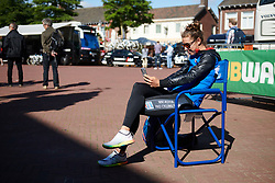 Janneke Ensing (NED) poses for selfies in the sun at Boels Ladies Tour 2019 - Stage 1, a 123 km road race from Stramproy to Weert, Netherlands on September 4, 2019. Photo by Sean Robinson/velofocus.com