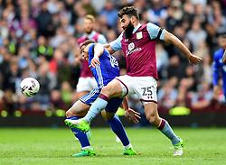 Mile Jedinak of Aston Villa battles for the ball with Che Adams of Birmingham City  - Mandatory by-line: Joe Meredith/JMP - 23/04/2017 - FOOTBALL - Villa Park - Birmingham, England - Aston Villa v Birmingham City - Sky Bet Championship