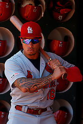OAKLAND, CA - AUGUST 04:  Kolten Wong #16 of the St. Louis Cardinals stands in the dugout before the game against the Oakland Athletics at the RingCentral Coliseum on August 4, 2019 in Oakland, California. The Oakland Athletics defeated the St. Louis Cardinals 4-2. (Photo by Jason O. Watson/Getty Images) *** Local Caption *** Kolten Wong