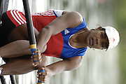 Poznan, POLAND.  2006, FISA, Rowing, World Cup, CUB W1X Maira  GONZALEZ  BORROTO, moves  away from  the  start, on the Malta  Lake. Regatta Course, Poznan, Thurs. 15.05.2006. © Peter Spurrier   .[Mandatory Credit Peter Spurrier/ Intersport Images] Rowing Course:Malta Rowing Course, Poznan, POLAND