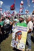 Supporter of Lega Nord (North League party) at Pontida meeting, Sunday, June 19, 2011. © Carlo Cerchioli..Militante della Lega Nord al raduno di Pontida, 19 giugno 2011.