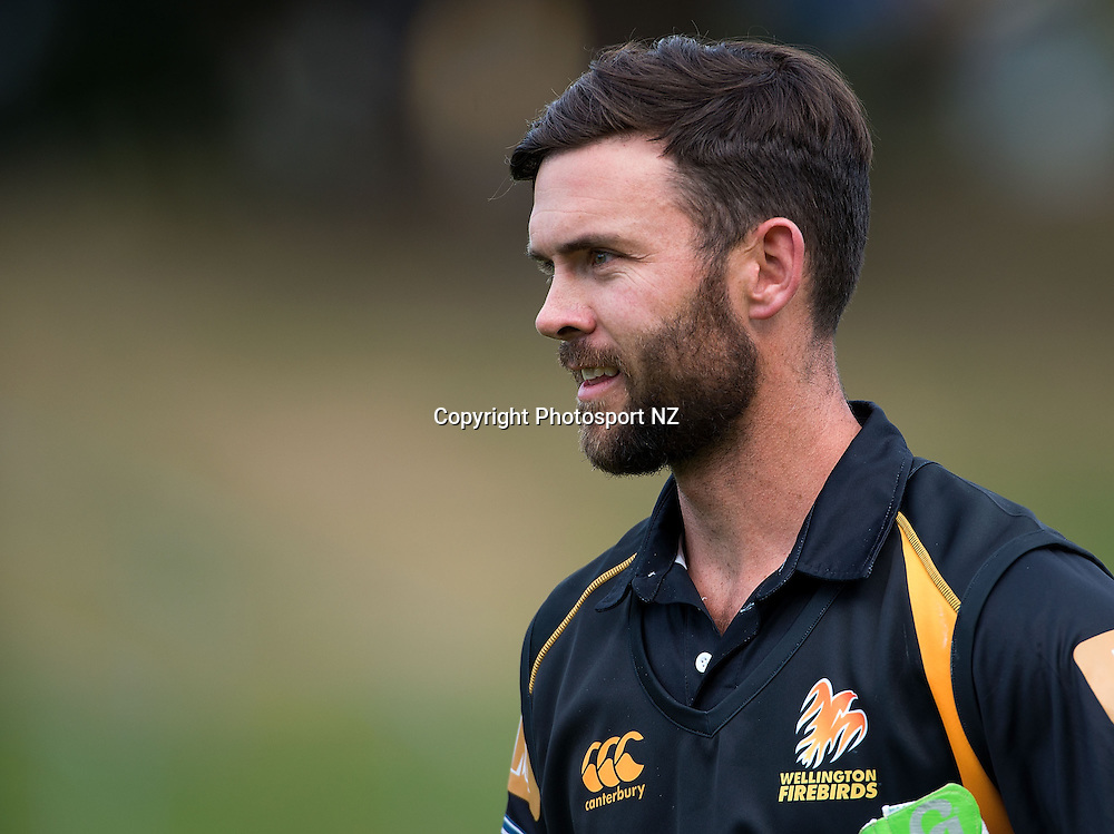 James Franklin captain of Wellington walks from the field after winning the game during the Ford Trophy One Day cricket match between the Wellington Firebirds and Central Districts at the Basin Reserve in Wellington on Sunday the 23rd March 2014.  Photo by Marty Melville/Photosport.co.nz