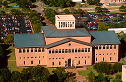 Stock photo of the aerial view of the architecture building at the University of Houston.