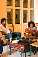 Musicians at the Hotel Plaza, Havana Vieja, Cuba.