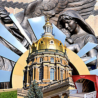 Iowa State Capitol Building Composite in Des Moines, Iowa<br />