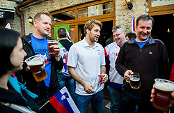 Robert Kristan of Slovenia of Slovenian Ice Hockey National Team at meeting with their supporters at day off during 2015 IIHF World Championship, on May 9, 2015 in Restaurant Zadni Vratka, Stodolni Street, Ostrava, Czech Republic. Photo by Vid Ponikvar / Sportida