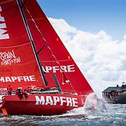© Maria Muina I MAPFRE. Leg 11 start from Gothenburg. Salida de la etapa 11 a Gotemburgo