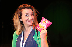 Comedian Lucy Porter with a packet Walkers crisps used as part of her Edinburgh Festival Fringe show in 2017 pic taken 06082017 copyright Terry Murden @edinburghelitemedia
