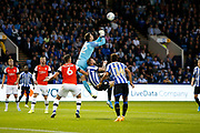 Simon Sluga of Luton Town punches the ball clear during the EFL Sky Bet Championship match between Sheffield Wednesday and Luton Town at Hillsborough, Sheffield, England on 20 August 2019.