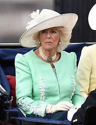 The Duchess of Cornwall attending Trooping The Colour, Buckingham Palace, London. Picture credit should read: Doug Peters/EMPICS
