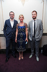 DANIELLE ATKINS, CHRIS COOK and DOM BAILEY at the Yota launch of Mikhailovsky Ballet's Swan Lake held at the London Coliseum, St.Martin's Lane, London on 13th July 2010.