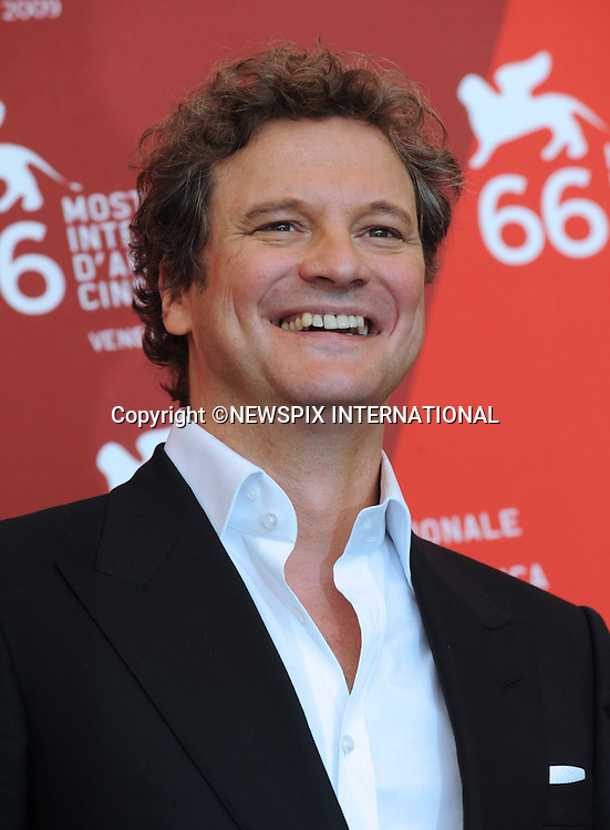 """COLIN FIRTH.at the  66th Venice Film Festival , Venice_12/09/2009.Mandatory Credit Photo: ©NEWSPIX INTERNATIONAL..**ALL FEES PAYABLE TO: """"NEWSPIX INTERNATIONAL""""**..IMMEDIATE CONFIRMATION OF USAGE REQUIRED:.Newspix International, 31 Chinnery Hill, Bishop's Stortford, ENGLAND CM23 3PS.Tel:+441279 324672  ; Fax: +441279656877.Mobile:  07775681153.e-mail: info@newspixinternational.co.uk"""