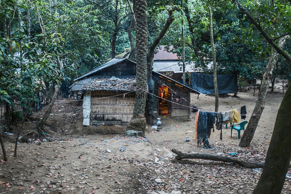 One of the houses where the surfer girls live, on the outskirts of Cox's Bazar, in the middle of the jungle, in very poor and simple conditions