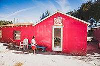 The Pink Pearl, convenience store on Staniel Cay, Exumas, Bahamas.