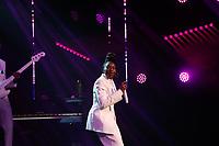 Little Simz performs ons stage during the 2019 Hyundai Mercury Prize, Eventim Apollo, London, UK, Saturday 06 July 2019<br /> Photo JM Enternational